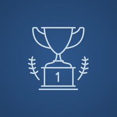 Trophy line icon.
