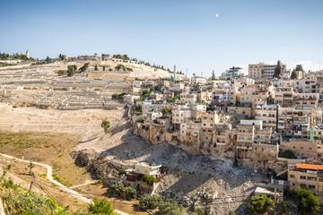 Skyline of the palestinian part of Jerusalem, Israel.