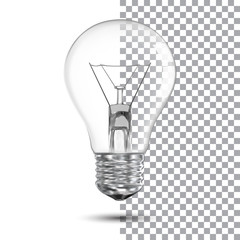 Realistic bulb. Vector Illustration