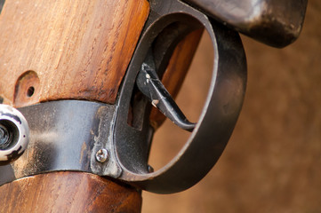 the trigger on the military historic gun