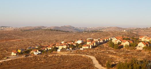 Buildings in hebrew village in Judea