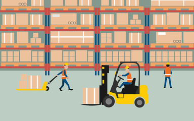 graphic of working in warehouse