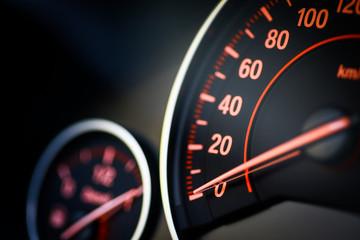Car speedometer detail