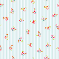 Seamless Pattern with little flowers