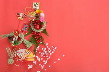 正月イメージ 正月飾り しめ縄 迎春
