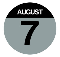 7 august calendar circle