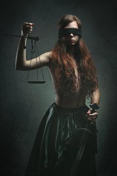 Dark justice goddess