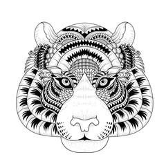 attractive tiger head coloring page