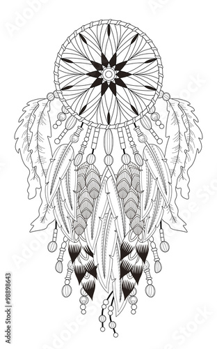 detailed dream catcher coloring pages - photo#19