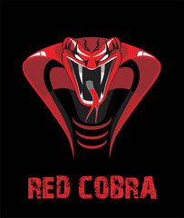 Angry Red King Cobra