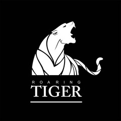 Fearless Tiger. Fearless white Tiger.