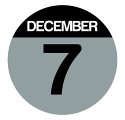 7 december calendar circle