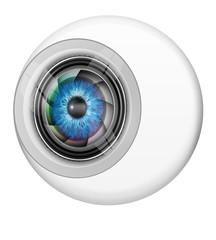 Big Brother, Auge mit Kamera, freigestellt