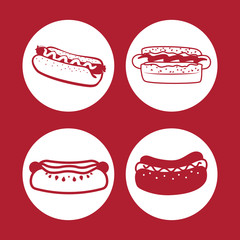 Fast food icons design