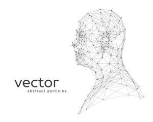 Abstract vector illustration of human head