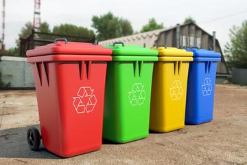 Multicoloured Garbage Trash Bins