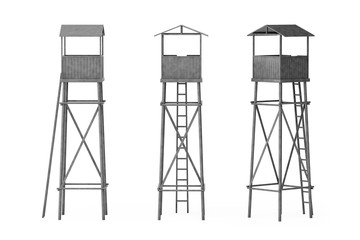 Old Wooden Watch Guard Towers