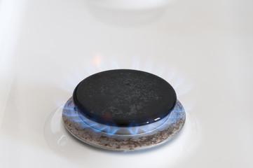 Gasflamme von einem Gasherd