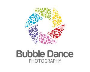 Abstract photography logo design . Hexagonal loop symbol photography. Photography logo design vector.