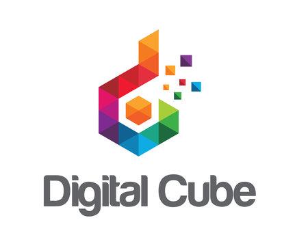 Business corporate letter D logo design vector. Colorful letter D logo design template. Digital cube logo vector. Cube logo .