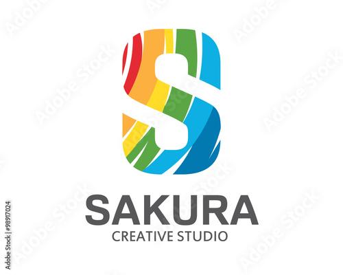 Creative letter s logo design Royalty Free Vector Image