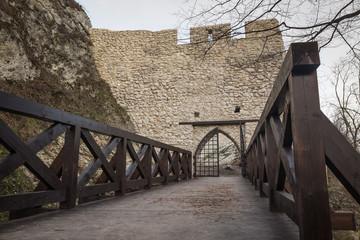 Castle ruins Pilcza the Smolen