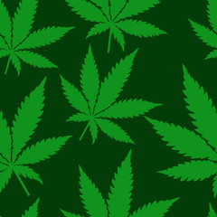 Abstract Cannabis Seamless Pattern