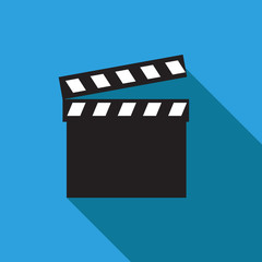 Movie clapper. Clapper board icon. Film frame, vector