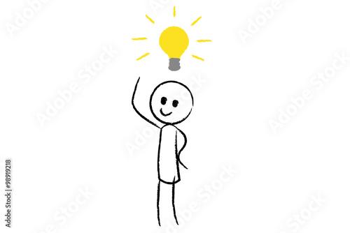 Strichm nnchen hat eine idee stockfotos und lizenzfreie vektoren auf bild 98919218 - Lay outs idee ...