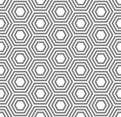 Geometric seamless pattern. Turtle shell, honeycomb pattern. Traditional vector seamless pattern. Monochrome template pattern