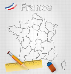 French Map Sketch