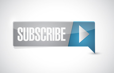 subscribe button sign illustration