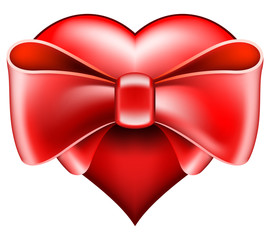 Heart with big bow