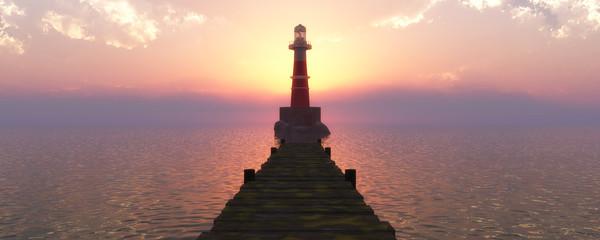 Garden Poster Lighthouse lighthouse on the coast