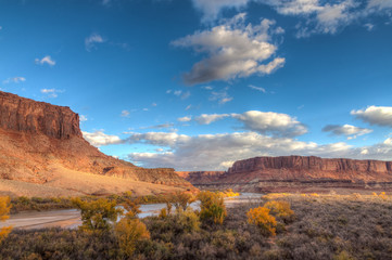Utah-Canyonlands National Park-Island in the Sky District-White Rim Road. This image was captured at sunrise on the Green River.