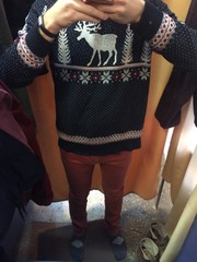 man chooses clothes. fashion