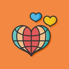 donate heart vector icon