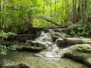 waterfall landscape at kanchanaburi, erawan Thailand