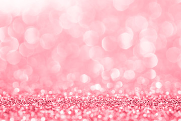 Pink glitter for abstract background