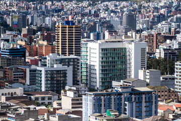 Modern buildings in Quito, Ecuador