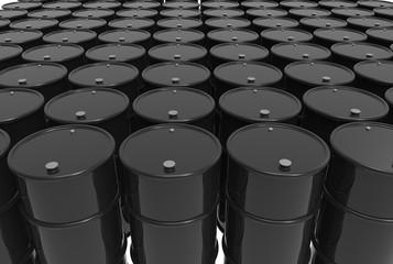 Group of barrels of oil