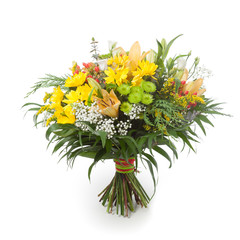 Yellow and green flowers bunch