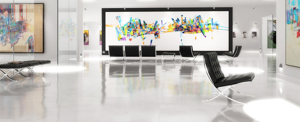 Modern Art Exibition (panoramic)