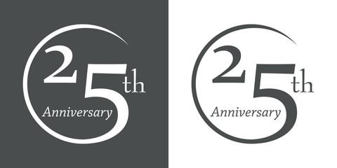 Icono plano 25th Anniversary #1