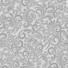 Papier 3d kwiatowy wzór