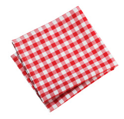 Table cloth kitchen red color isolated.