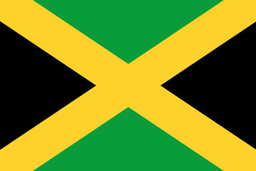 Jamaica flag illustration of country
