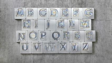 old vintage letters from vintage press