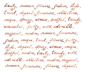 Hand written vintage ink letter - fashion and beauty text