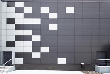 modern metal facade tiles